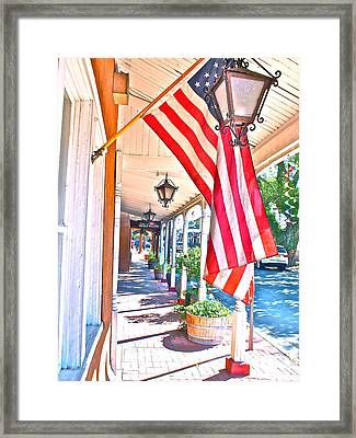 We Are Americans Framed Print by Joseph Mora