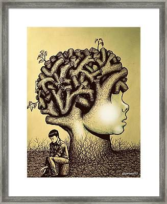 We Are Born With Enormous Potential But Pruned By The Limitations Of Pre-established Standards Framed Print by Paulo Zerbato