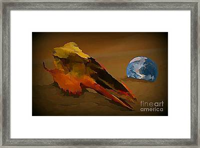 We Are But Bacteria On A Beautiful Marble  Framed Print by John Malone
