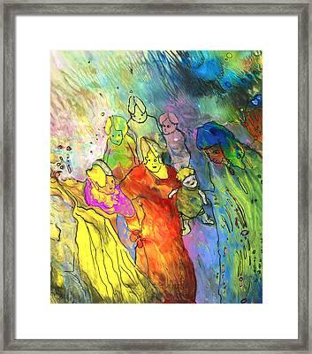 We Are Family Framed Print by Miki De Goodaboom