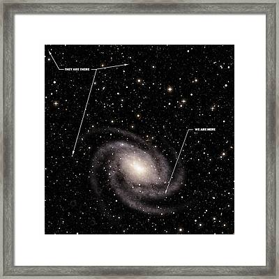 We Are Here They Are There Framed Print by Daniel Hagerman
