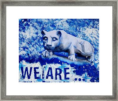 We Are... Penn State Framed Print by Michelle Eshleman