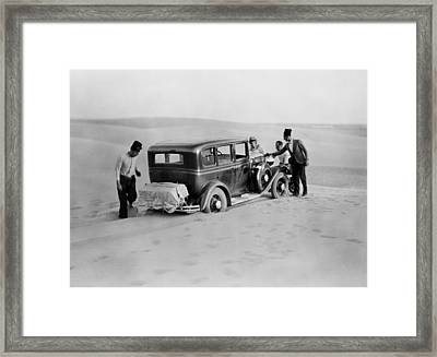 We Are Stuck Circa 1920 Framed Print by Aged Pixel