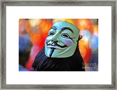 We Are The 99 Framed Print by Stefano Senise