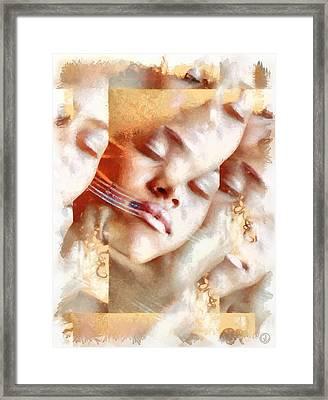 We Are The Dreaming I Framed Print by Gun Legler