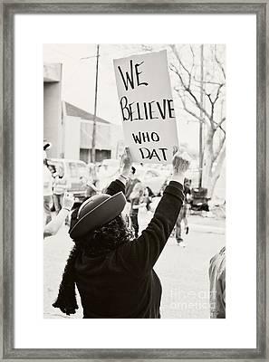 We Believe Framed Print by Scott Pellegrin