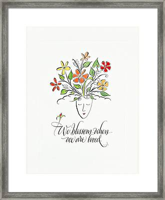 We Blossom Framed Print by Michelle Calaba