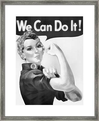 We Can Do It Framed Print by Dan Sproul