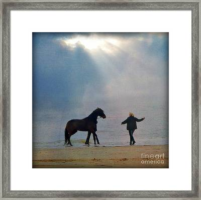 We Go Together Like A Horse And Carriage Framed Print by Lisa Van der Plas