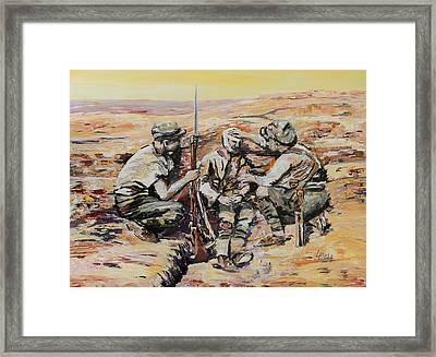 We Have You Mate Framed Print by Leonie Bell