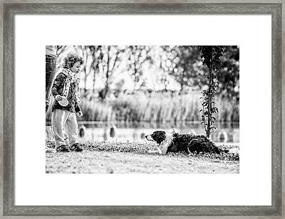 We Live As We Dream Framed Print by Traven Milovich