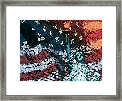 We The People Framed Print by Dancin Artworks