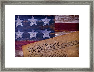 We The People Framed Print by Garry Gay