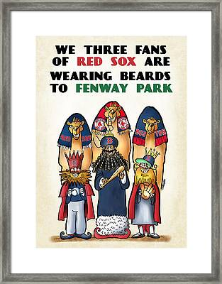 We Three Red Sox Fans Framed Print by Mark Armstrong