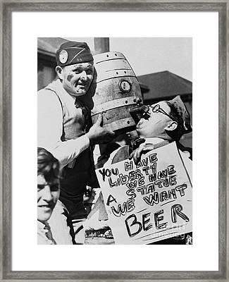 We Want The Beer Framed Print by Jon Neidert
