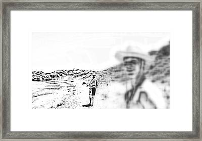 We Went Down To The River Or Whatever It Was  Framed Print by Hilde Widerberg
