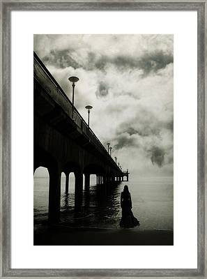 We Who Fell In Love With The Sea Framed Print by Cambion Art