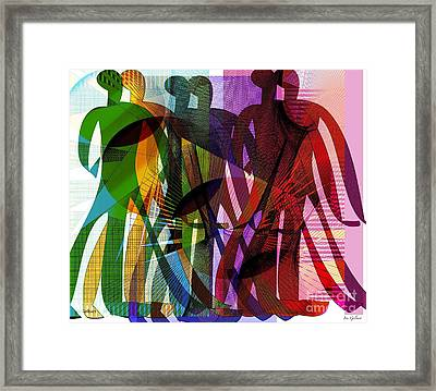 We Will March Together Framed Print by Iris Gelbart
