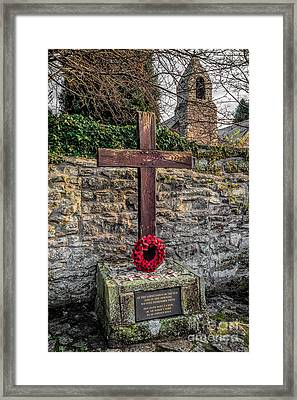 We Will Remember Framed Print by Adrian Evans