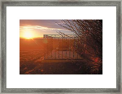 We Will Walk In Fields Of Gold Framed Print by Terry Reynoldson