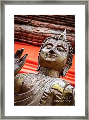 Wear-and-tear Buddha Framed Print by Dean Harte