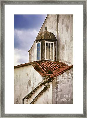 Weathered Building Of Medieval Europe Framed Print by David Letts