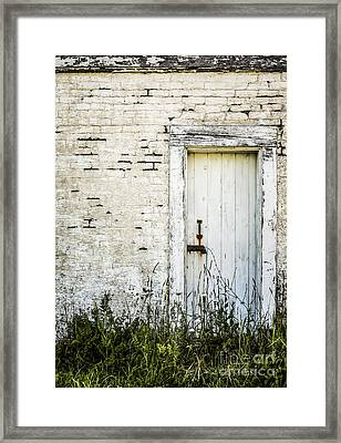 Weathered Door Framed Print by Diane Diederich