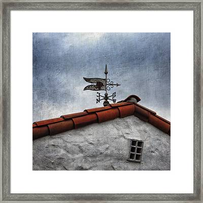 Weathered Weathervane Framed Print by Carol Leigh