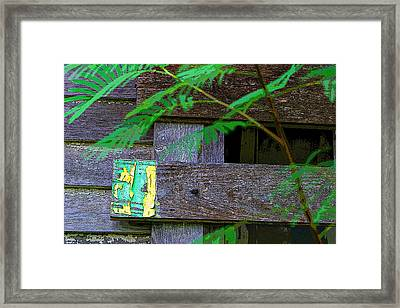 Weathered Wood And Old Paint Framed Print by Linda Phelps