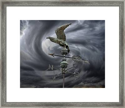 Weathervane Framed Print by Steven  Michael