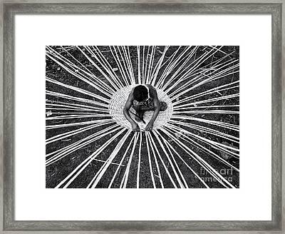 Weaving A Goat Pen Framed Print by Tim Gainey