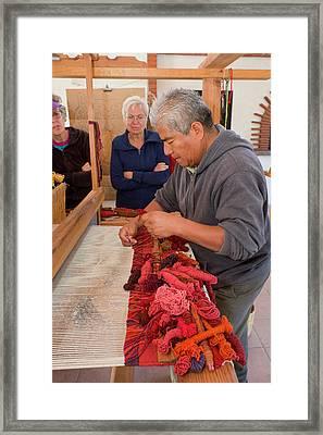 Weaving Demonstration Framed Print by Jim West