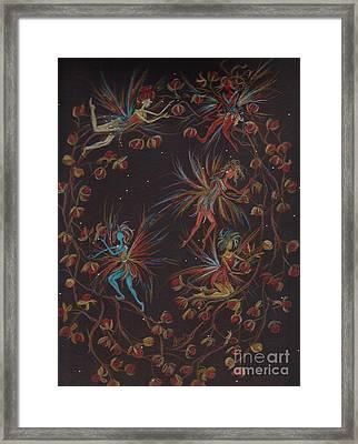Weaving The Bittersweet Framed Print by Dawn Fairies