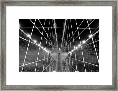 Web Of The Brooklyn Bridge Framed Print by Kenan BUYUK SUNETCI