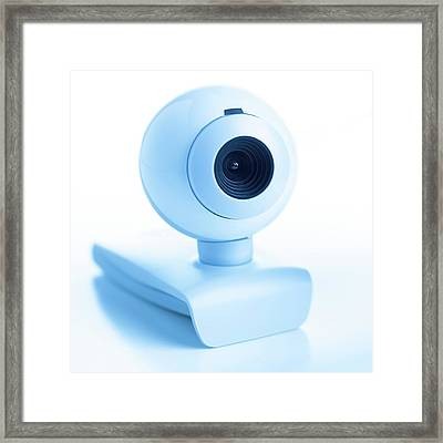Webcam Framed Print by Science Photo Library