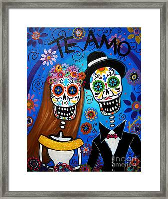 Wedding Couple  Framed Print by Pristine Cartera Turkus