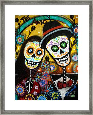Wedding Dia De Los Muertos Framed Print by Pristine Cartera Turkus