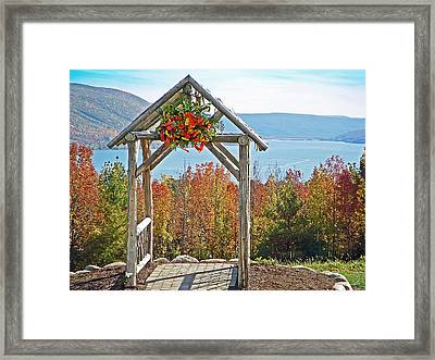 Wedding Gazebo Framed Print by Aimee L Maher Photography and Art Visit ALMGallerydotcom