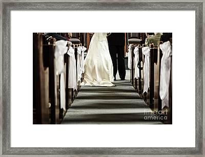 Wedding In Church Framed Print by Elena Elisseeva