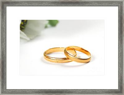 Wedding Rings Framed Print by Michal Bednarek