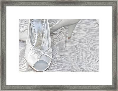 Wedding Shoes Framed Print by Antony McAulay