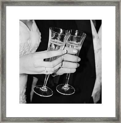 Wedding Toast Framed Print by Valerie Loop