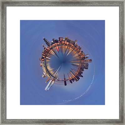 Wee Chicago Sunrise Planet Framed Print by Nikki Marie Smith