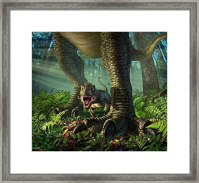 Wee Rex Framed Print by Jerry LoFaro