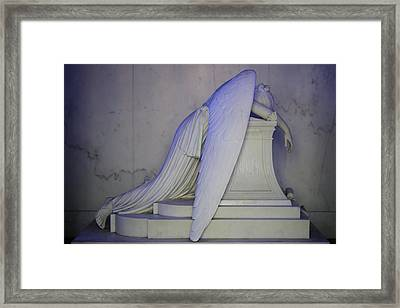 Weeping Angel Framed Print by Candi Davidson