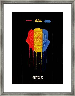 Weeping Rainbow Rose Framed Print by Darrell Ross