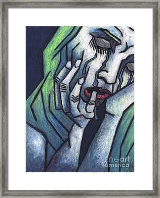 Weeping Woman Framed Print by Kamil Swiatek