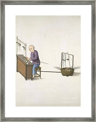 Weighing Scale-maker, 19th-century China Framed Print by British Library