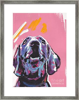 Weim Me Up Framed Print by Lea S