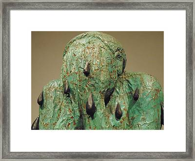 Anquished Sculpture Framed Print by Dotti Hannum